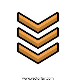 military force medal isolated icon