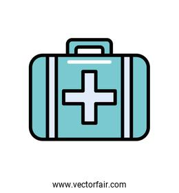 medical kit handle isolated icon