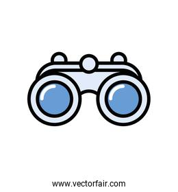 binoculars accessory view isolated icon