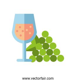 wine cup drink with grapes fruits