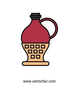 wine jar drink isolated icon