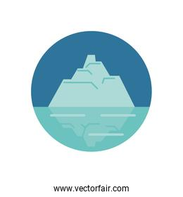 iceberg floating in the water