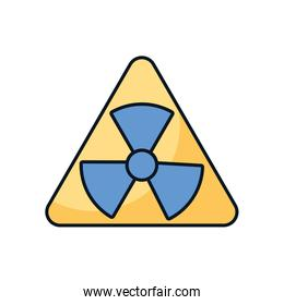 nuclear symbol caution isolated icon
