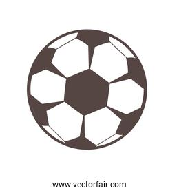 soccer balloon child toy line style icon