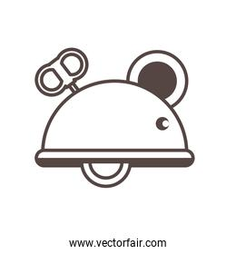 mouse mechanic toy line style icon