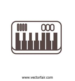 piano instrument musical line style icon