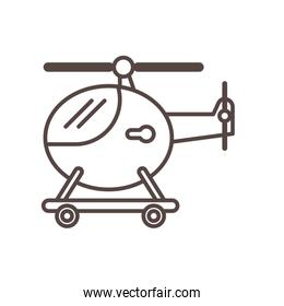 helicopter flying child toy line style icon