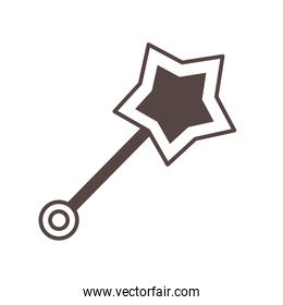 wand with star line style icon