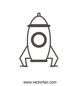 rocket child toy line style icon