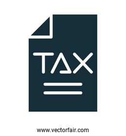 tax obligation document silhouette style