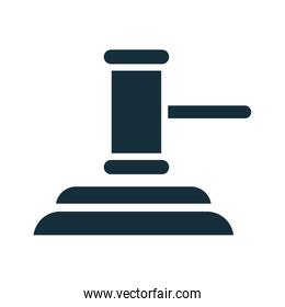 justice hammer device silhouette style