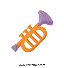 trumpet musical instrument flat style icon