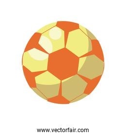 soccer balloon child toy flat style icon