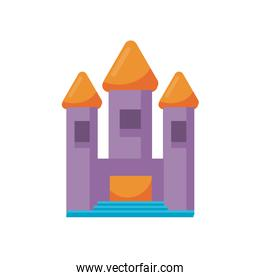 castle child toy flat style icon