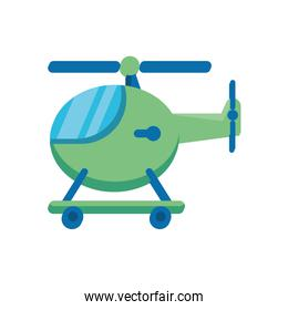 helicopter flying child toy flat style icon