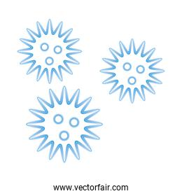 covid19 particles pandemic isolated icons