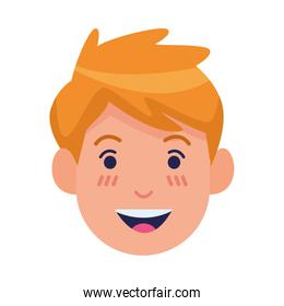 young man head avatar character