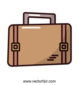 suitcase travel baggage fill style icon