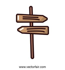 arrows wooden signal fill style icon