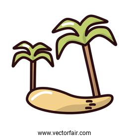 tree palms summer fill style icon