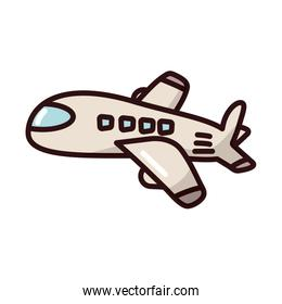 airplane flying transport fill style icon