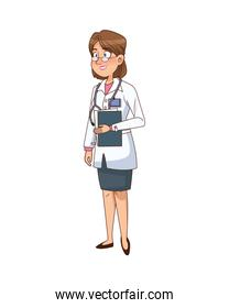 professional female doctor with checklist