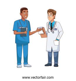 professional doctor and surgeon avatars characters