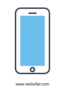 smartphone device electronic isolated icon