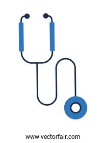 stethoscope medical tool isolated icon