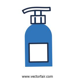 disinfectant plastic bottle product with push dispenser flat style