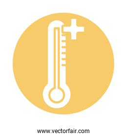 thermometer temperature measure fill style