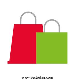 shopping bags market isolated icons