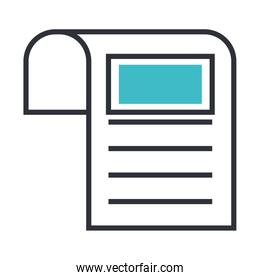 receipt document commercial isolated icon