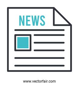 news paper document isolated icon