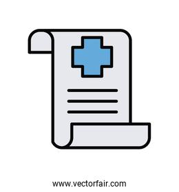 medical order paper line and fill style icon