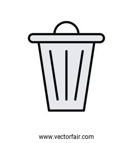 waste bin line and fill style icon
