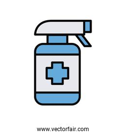 spray bottle medical product line and fill style