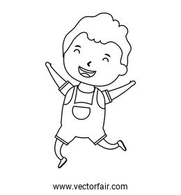 cute little boy comic character