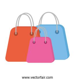 shopping bags paper commercial icons