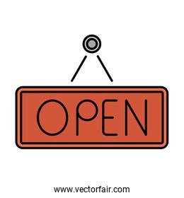 commercial open label hanging icon