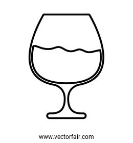 wine cup drink isolated icon