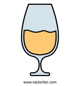 champagne cup drink isolated icon