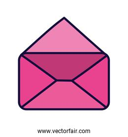 pink open envelope message mail icon