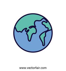 world map earth geography icon
