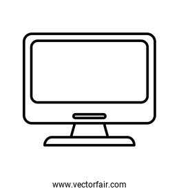 computer monitor device technology smart icon thick line