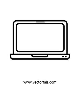 laptop computer device technology icon thick line