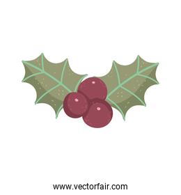 holly berry ornament decoration christmas thick line