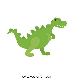 cute rex baby toy isolated icon