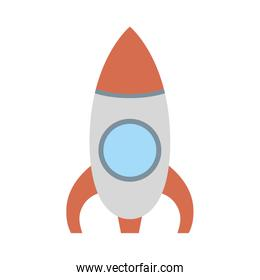 rocket launcher cute baby toy isolated icon