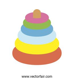 pile rings colors cute baby toy isolated icon